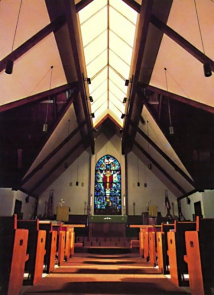 Daylighting in a church with ridge style skylight