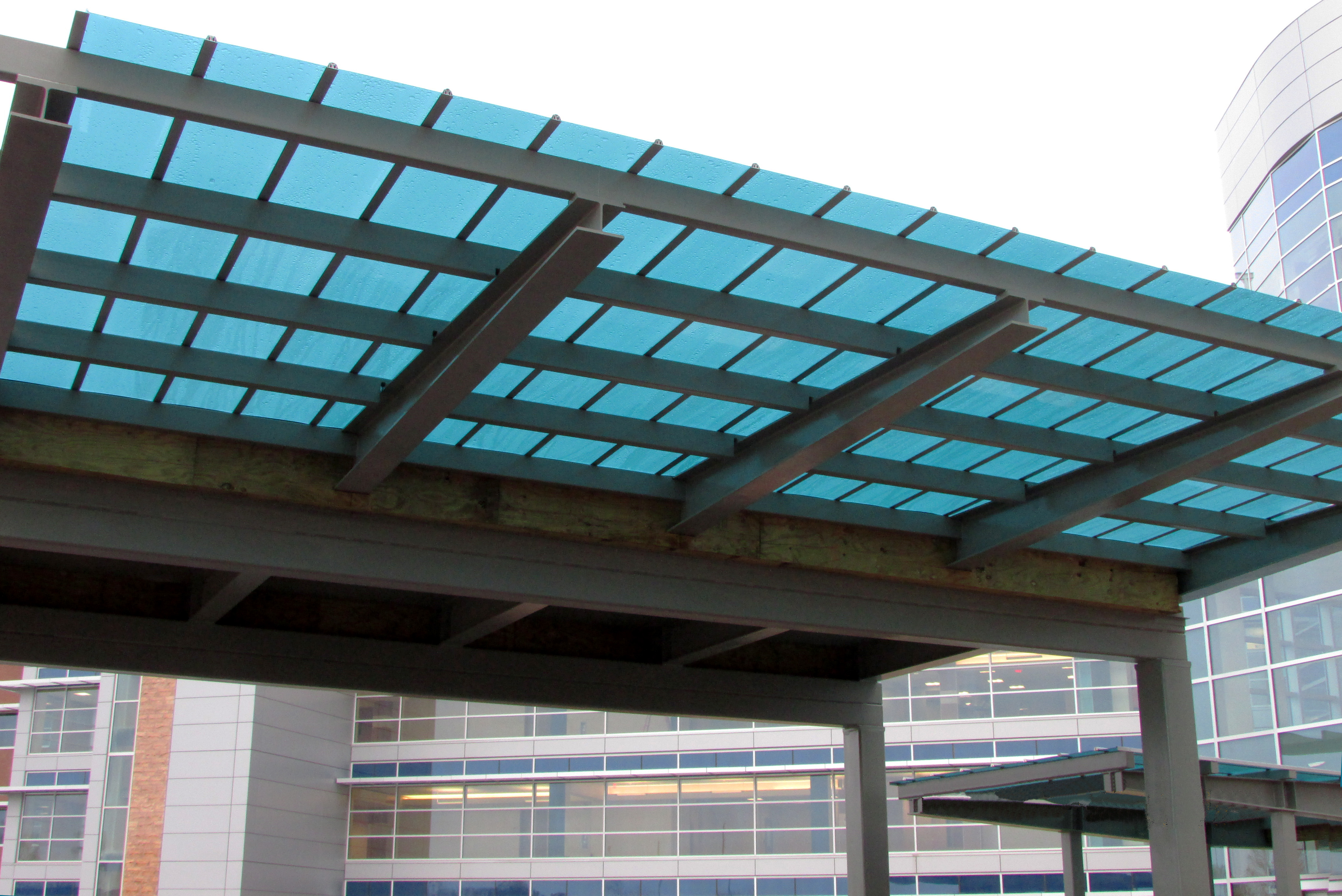 VA Health Center Charlotte NC & Canopy u0026 Walkway Covers - Crystal Structures