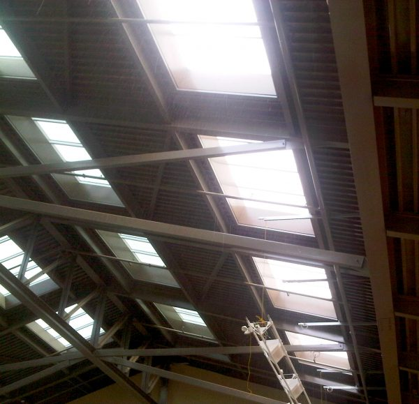 Inside above aquatic center