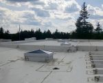Unit skylights in pyramid shape