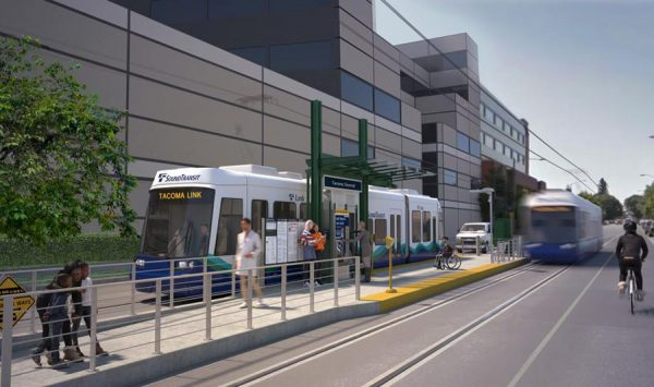 Construction is underway on Sound Transit's 2.4 mile Hilltop Tacoma Link Extension.