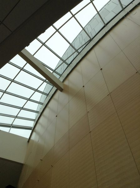 Finish work under the skylight