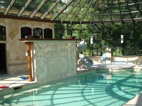 Inside Pool Enclosure