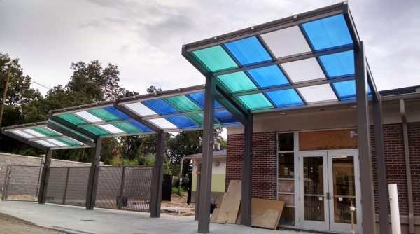 Canopies complete - prior to reopening