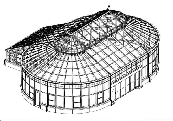 Isometric drawing of structure