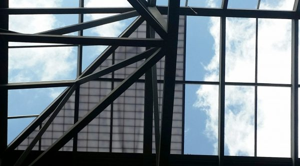 Looking up, partially glazed