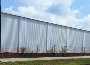 Polycarbonate panels on UARK building