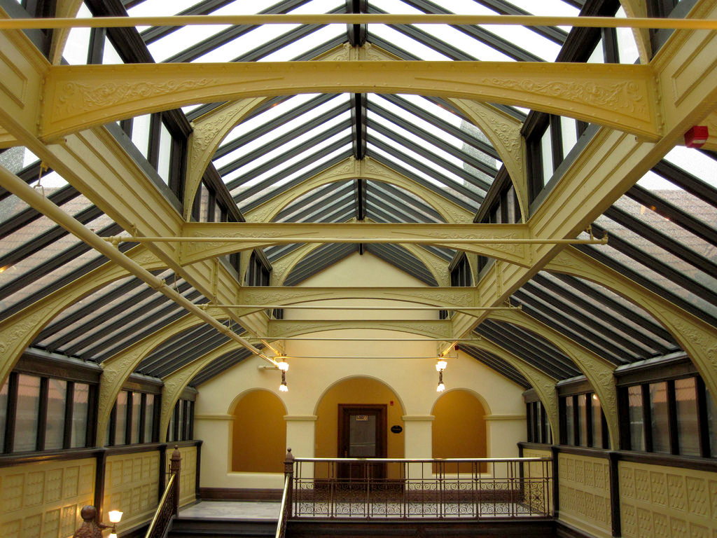 Historic Skylight Above Bay City Hall Atrium Replaced By