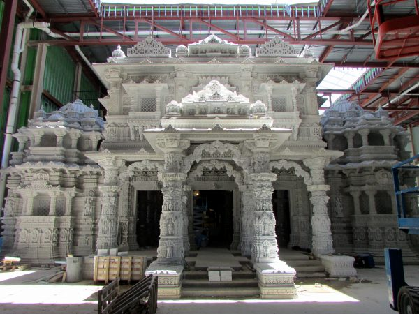 Front of temple